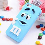 Чехол M&M's для Apple iPhone 4/4s розовый, фото 3