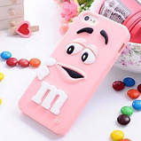 Чехол M&M's для Apple iPhone 4/4s розовый, фото 2