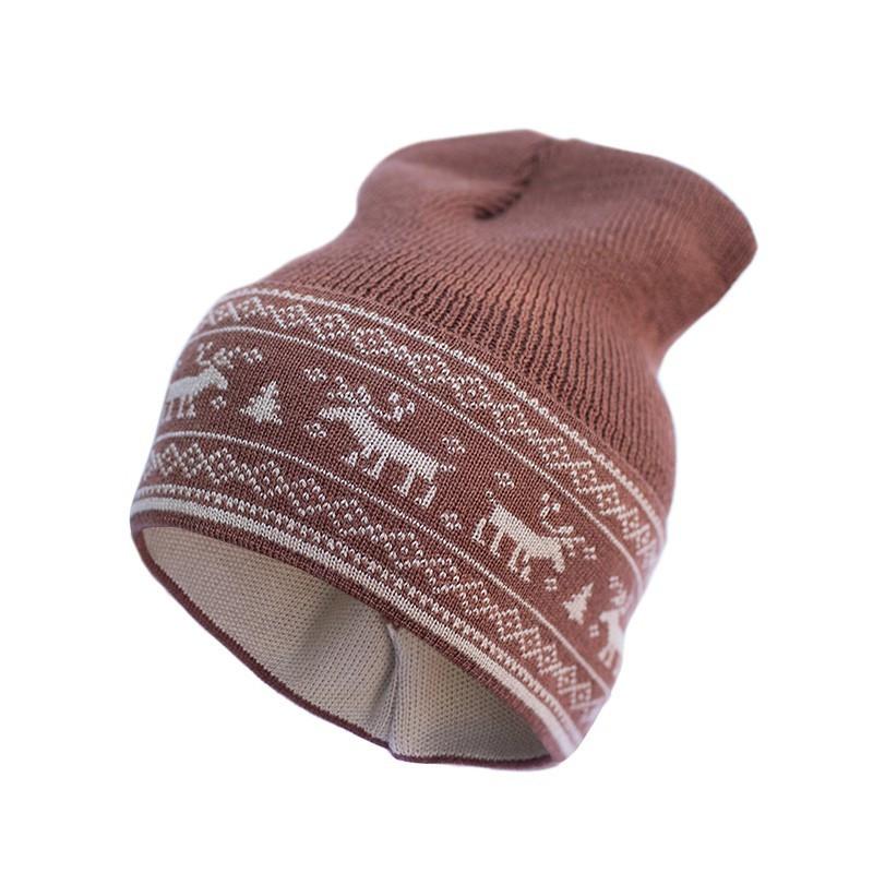 Шапка из шерсти мериноса София 412-2 48-54 см, коричневая