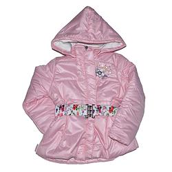Удлиненная курточка болоньевая для девочек от 5 до 7 лет