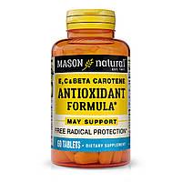 Антиоксидантні Вітаміни A, E, C, Vitamin E, C & Beta Carotene, Mason Natural, 60 таблеток