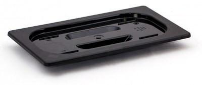 Крышка для гастроемкости из черного поликарбоната GN1/1