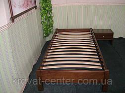 Односпальная кровать без изголовья (массив - сосна, ольха, береза, дуб)., фото 3