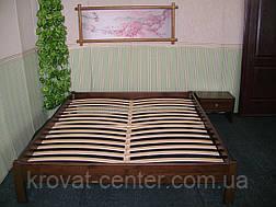 Двуспальная кровать без изголовья (массив - сосна, ольха, береза, дуб)., фото 3