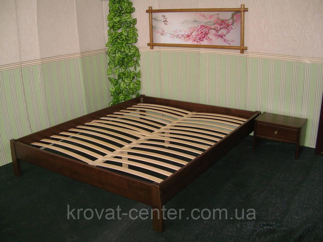 Двуспальная деревянная кровать без изголовья от производителя
