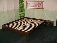 Кровать полуторная без изголовья (массив - сосна, ольха, дуб).