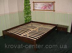 Двоспальне дерев'яне ліжко без узголів'я від виробника
