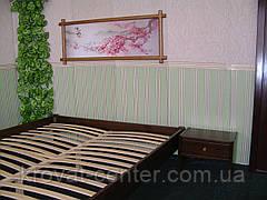 Односпальне ліжко без узголів'я з натурального дерева від виробника, фото 3