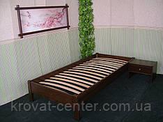 Односпальне ліжко без узголів'я з натурального дерева від виробника