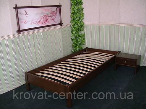 Односпальне ліжко без узголів'я з натурального дерева від виробника, фото 2