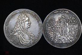 Медаль На пам'ять про адмірала Федора Апраксіна 1708