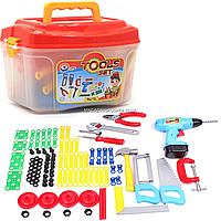 Набор инструментов для детей Tools set «Технок» конструктор, 94 деталей в чемодане (4395)