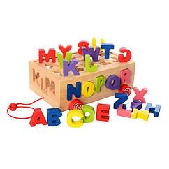 Деревянная игрушка Сортер Bambi MD 2422 (Буквы)