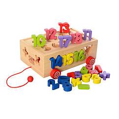 Деревянная игрушка Сортер Bambi MD 2422 (Цифры)