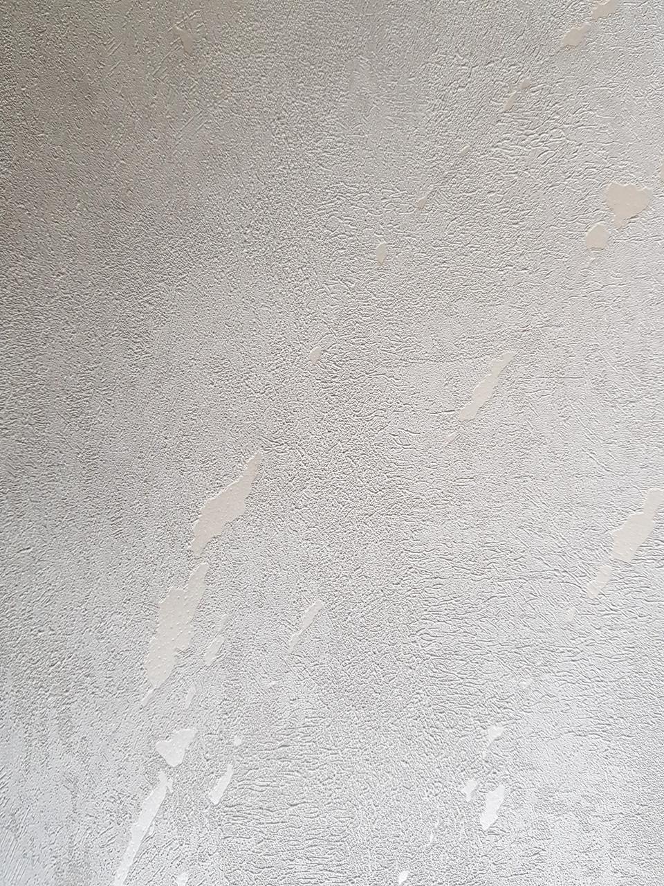 Шпалери метрові вінілові на флізелін Marburg Villa Romana абстракція під штукатурку світло сірі з сріблястим