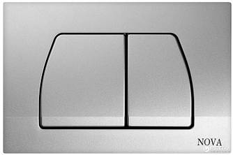 Кнопка для інсталяції сіра, прямокутна NOVA 7315N