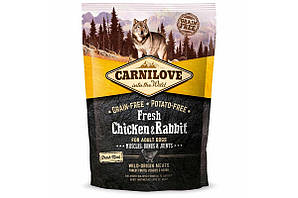 Корм Carnilove Fresh Chicken & Rabbit for Adult dogs з куркою та кроликом для дорослих собак 1,5 кг