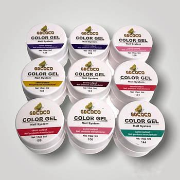 Набор гель-красок COCO 9 шт