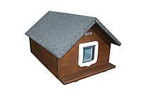 Домик для кота 50х70 с дверками (утепленная)