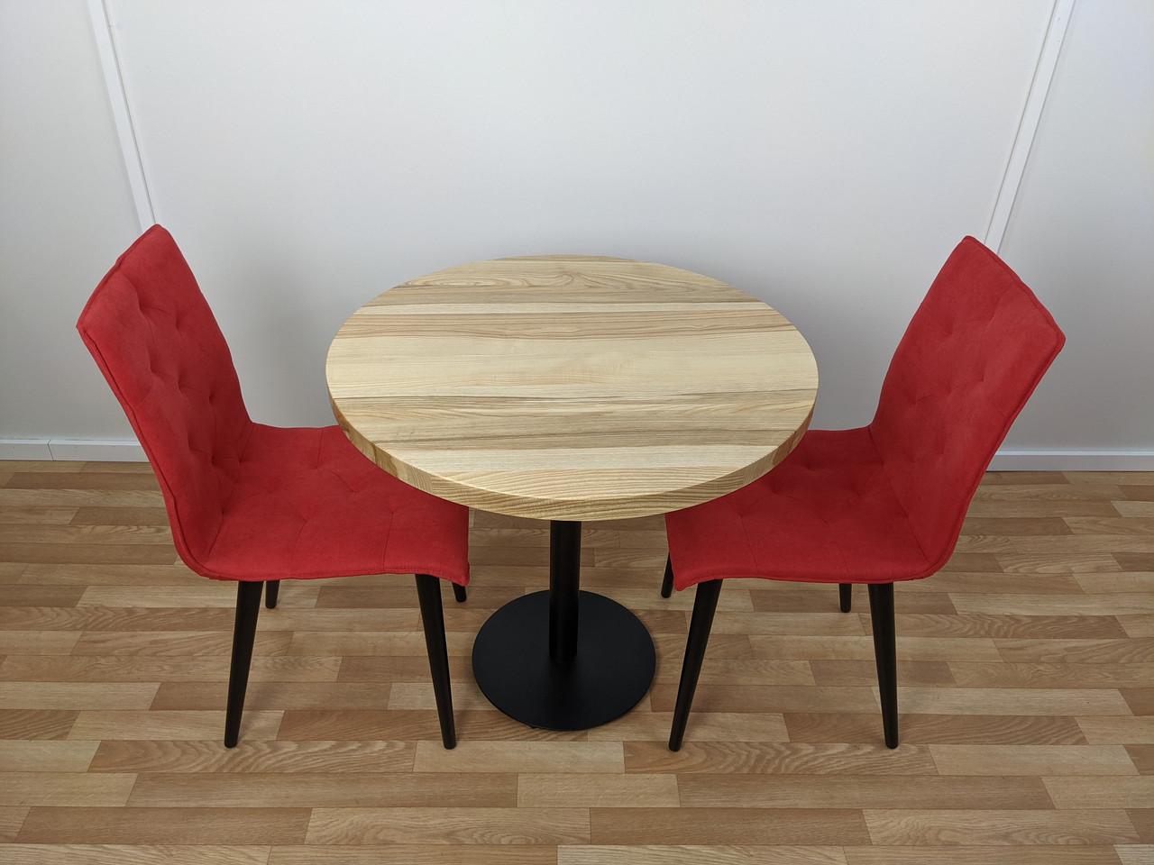 Круглий стіл для кафе з натурального дерева від виробника