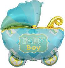 Фольгированный шар большая фигура коляска Baby Boy 69х88см Китай