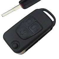Заготовка корпус выкидного ключа Mercedes 3 кнопки Лезвие HU64, фото 1