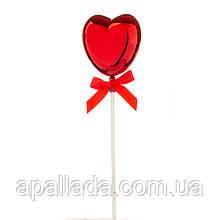 Топпер Шарик в форме сердца красный
