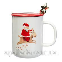 """Чашка """"Santa and deer"""", 350 мл."""