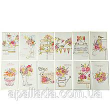 """Серія листівок """"Романтичні квіти"""""""