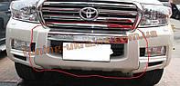Накладка на бампер передняя Toyota Land Cruiser FJ200