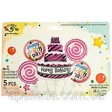 """Набор воздушных шаров """"Именинный торт"""" *рандомный выбор дизайна"""