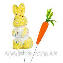 """Декор на паличці """"Кролик з морквиною"""" (7 див.)"""