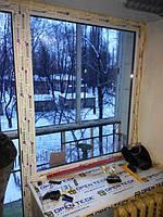 """Окно с дверью на балкон (балконный блок) в профиле Windom - """"Окна Маркет"""""""