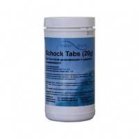 Средство для дезинфекции воды бассейна хлор шок Freshpool, 1 кг (в таблетках по 20 гр)