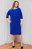 Креативное батальное платье яркого цвета, фото 1