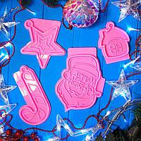 """Скидка. Молд """"Рождество"""". Вид на выбор для заливки смолы, гипса, шоколада и тд. Пищевой силикон, 1 шт. Конфета"""