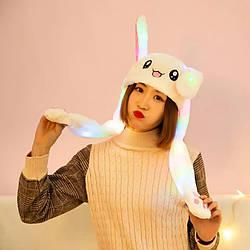 Шапка заяц со светящимися и двигающимися ушками