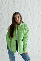 Куртка-рубашка на кнопках Sheep Brand Julii салатовый