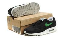 Мужские кроссовки Nike Air Max 87  черно-зеленые