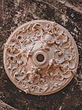 Розетка стельова з гіпсу, гіпсова розетка  р-214 Ø700, фото 2