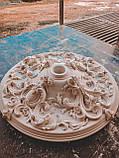Розетка стельова з гіпсу, гіпсова розетка  р-214 Ø700, фото 4