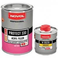 Автомобильный грунт акриловый белый 4+1 protect 300 novol 1л + отвердитель 5520 0.25л