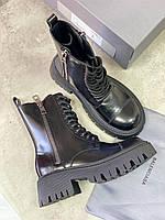 Кожаные ботинки BALENCIAGA (реплика), фото 1