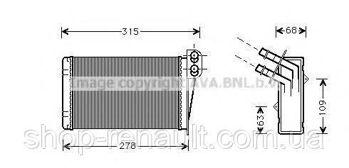 Радиатор отопителя салона (печки) CLIO II/Symbol/Thalia AVA QUALITY COOLING, RT6228