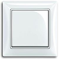 Вимикач 1 - кл, перехресний, білий, Basic55