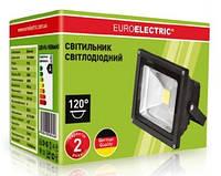Прожектор LED COB 10 Вт 6500К черный Euroelektric