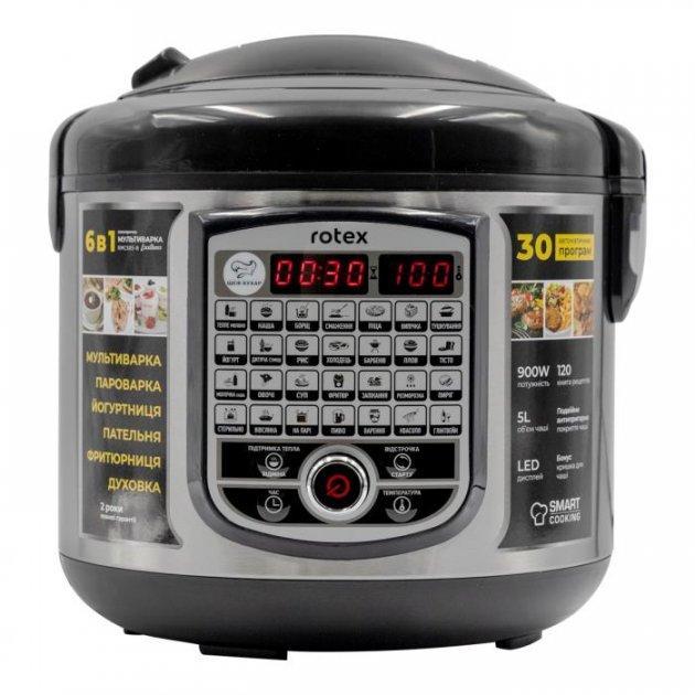 Мультиварка 6 в 1 Rotex Excellence RMC-505-У 31 програма паска хліб чорна сталь