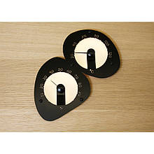 Термо-гигрометр с подсветкой черный Cariitti