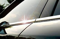 Хром накладки на уплотнитель дверных окон на Мицубиси Педжеро-Вагон-4 с 07>(нерж.)