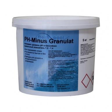 Средство для понижения уровня РН воды бассейна - РН минус гранулированный Freshpool, 5 кг, фото 1